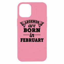 Чехол для iPhone 12 mini Legends are born in February