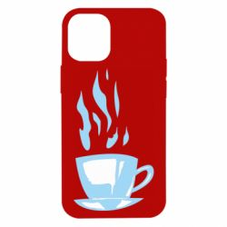 Чехол для iPhone 12 mini Light blue cup of coffee