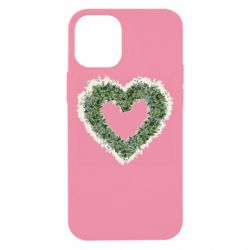 Чехол для iPhone 12 mini Lilies of the valley in the shape of a heart