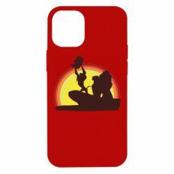 Чехол для iPhone 12 mini Lion king silhouette