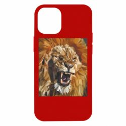 Чохол для iPhone 12 mini Lion roars low poly style