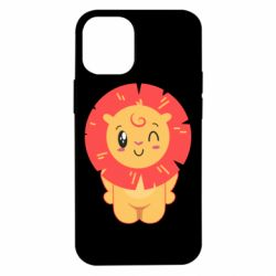 Чехол для iPhone 12 mini Lion with orange mane