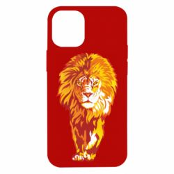 Чохол для iPhone 12 mini Lion yellow and red