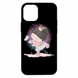 Чехол для iPhone 12 mini Little princess and butterfly