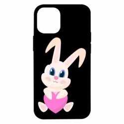 Чехол для iPhone 12 mini Little rabbit with a heart