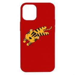 Чехол для iPhone 12 mini Little striped tiger