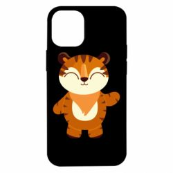 Чехол для iPhone 12 mini Little tiger with a smile