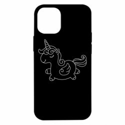 Чехол для iPhone 12 mini Little unicorn with wings