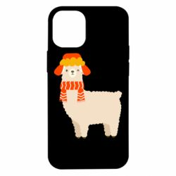 Чехол для iPhone 12 mini Llama and winter