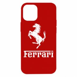Чехол для iPhone 12 mini логотип Ferrari
