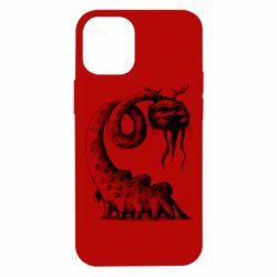 Чехол для iPhone 12 mini Long-necked Mustachioed Monster