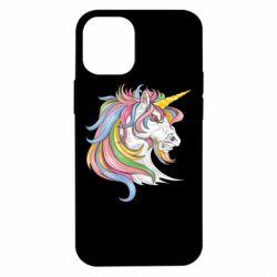 Чохол для iPhone 12 mini Кінь з кольоровою гривою