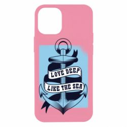 Чехол для iPhone 12 mini Love deep like the sea