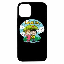 Чохол для iPhone 12 mini Love is ... in the rain