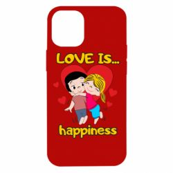 Чохол для iPhone 12 mini love is...happyness
