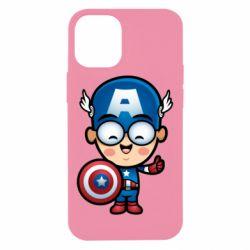 Чехол для iPhone 12 mini Маленький Капитан Америка