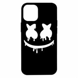 Чехол для iPhone 12 mini Marshmello and face logo