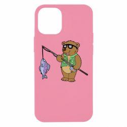 Чохол для iPhone 12 mini Ведмідь ловить рибу