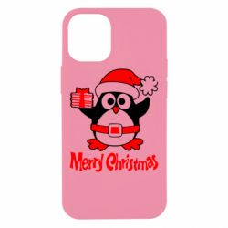 Чехол для iPhone 12 mini Merry Cristmas Пингвин