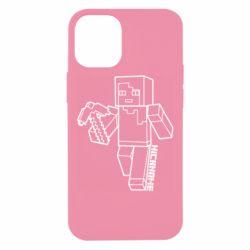 Чехол для iPhone 12 mini Minecraft and hero nickname