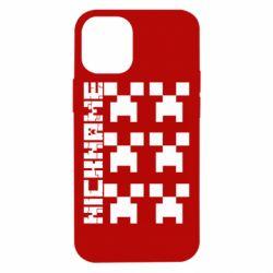 Чохол для iPhone 12 mini Minecraft and nickname