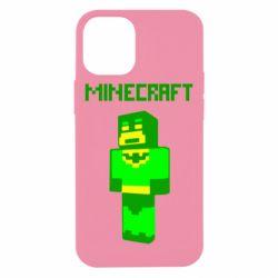 Чехол для iPhone 12 mini Minecraft Batman