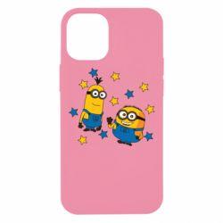 Чохол для iPhone 12 mini Minions and stars