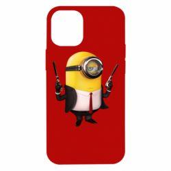 Чехол для iPhone 12 mini Миньон Хитман