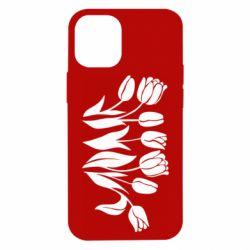 Чохол для iPhone 12 mini Monochrome tulips