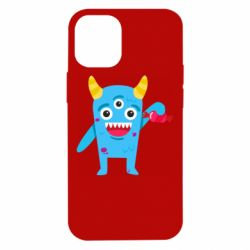 Чехол для iPhone 12 mini Monster with a candy