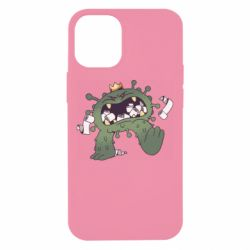 Чохол для iPhone 12 mini Monster with a crown and paper