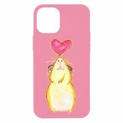 Чохол для iPhone 12 mini Морська свинка і сердечко