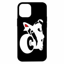 Чехол для iPhone 12 mini Мотоциклист на спорте