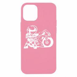 Чехол для iPhone 12 mini Мотоциклист