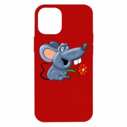 Чехол для iPhone 12 mini Mouse with a flower