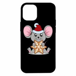 Чехол для iPhone 12 mini Mouse with cookies
