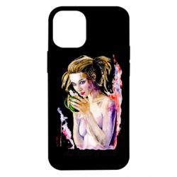 Чехол для iPhone 12 mini Naked girl with coffee