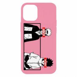 Чехол для iPhone 12 mini Naruto and Sasuke