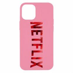 Чехол для iPhone 12 mini Netflix logo text