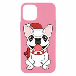 Чехол для iPhone 12 mini New Year's French Bulldog