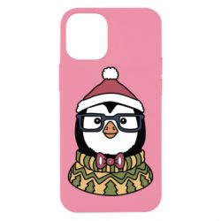Чехол для iPhone 12 mini New Year's Penguin