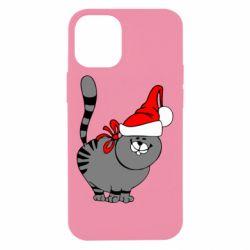 Чехол для iPhone 12 mini Новогодний котэ