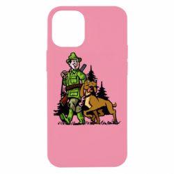 Чохол для iPhone 12 mini Мисливець з собакою