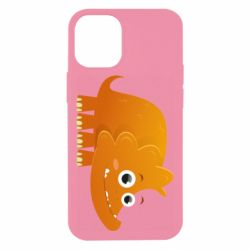 Чехол для iPhone 12 mini Orange dinosaur