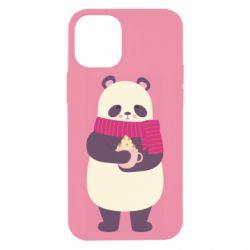 Чехол для iPhone 12 mini Panda and Cappuccino