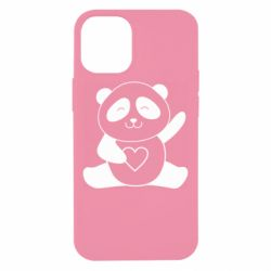 Чохол для iPhone 12 mini Panda and heart