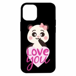 Чехол для iPhone 12 mini Panda and love
