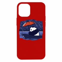 Чехол для iPhone 12 mini Panda and rain