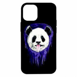 Чехол для iPhone 12 mini Panda on a watercolor stain