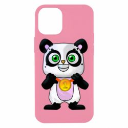 Чехол для iPhone 12 mini Panda with a medal on his chest